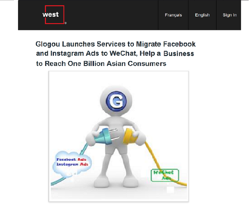 Glogou Launches Services to Migrate Facebook and Instagram Ads to WeChat